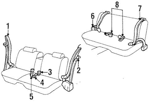 Front Seat Belts for 1996 Oldsmobile 98 (Regency Elite