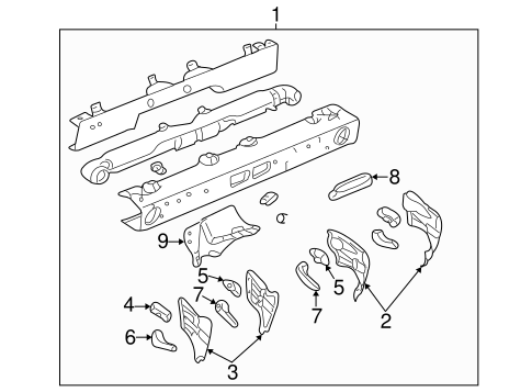 INSTRUMENT PANEL COMPONENTS for 2002 Buick Rendezvous