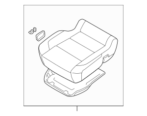 2012-2015 Nissan Titan Cushion Assembly 87300-9FE4A