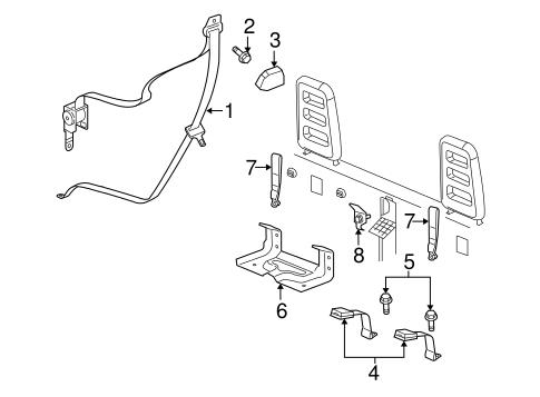 REAR SEAT BELTS for 2005 Dodge Dakota