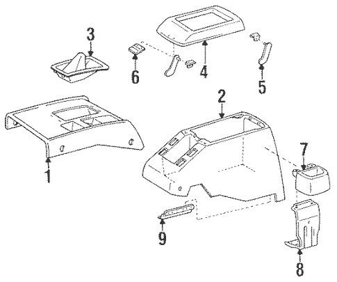 Genuine OEM Console Parts for 1992 Toyota Land Cruiser
