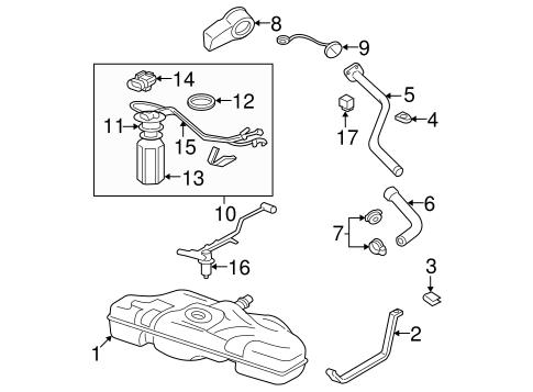 Fuel System Components for 2001 Oldsmobile Alero