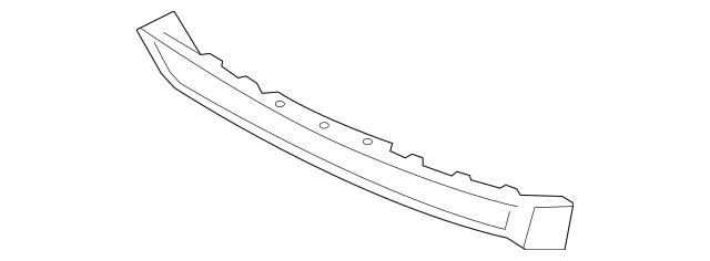 2012-2014 Acura TL SEDAN Garnish, Rear Bumper (Lower