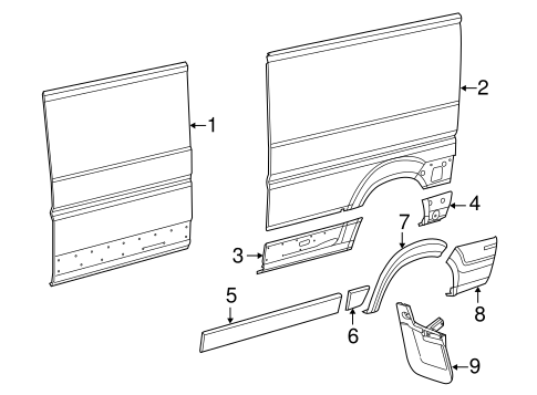 Side Panel & Components for 2014 Ram ProMaster 3500 Parts