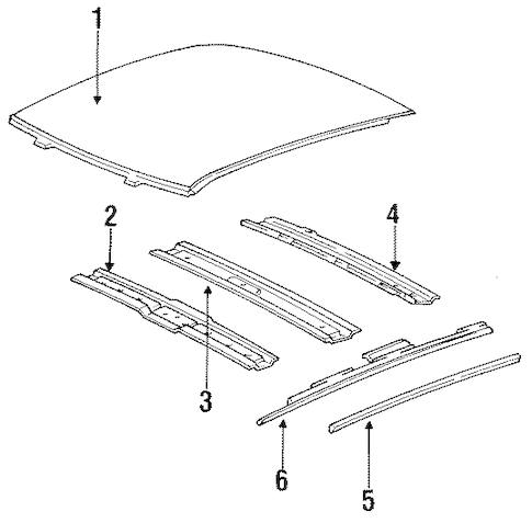 OEM ROOF & COMPONENTS for 1996 Chevrolet Impala