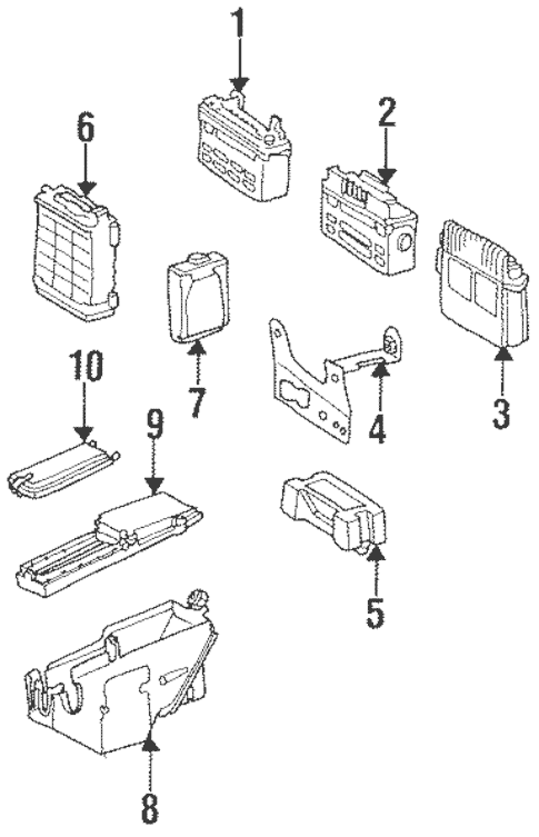 Components On Inner Panel for 1991 Mercedes-Benz 300 CE