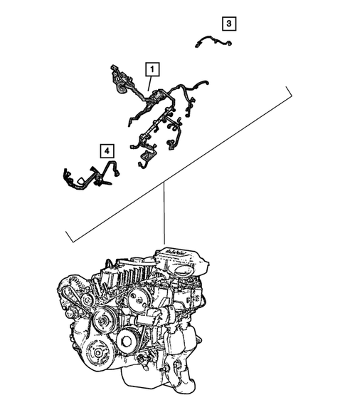 Wiring-Engine & Related Parts for 2004 Jeep Grand Cherokee