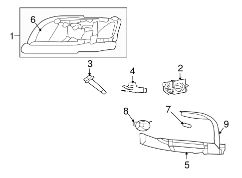 Headlamp Components for 2007 Mitsubishi Raider