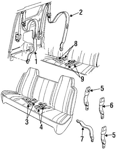 1998 Dodge Ram 1500 Seat Belt Control Wiring Diagram