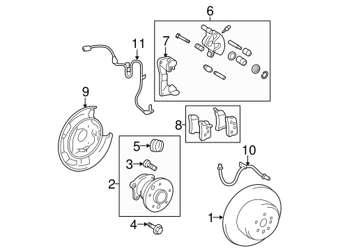 Genuine OEM Rear Brakes Parts for 2012 Toyota Highlander