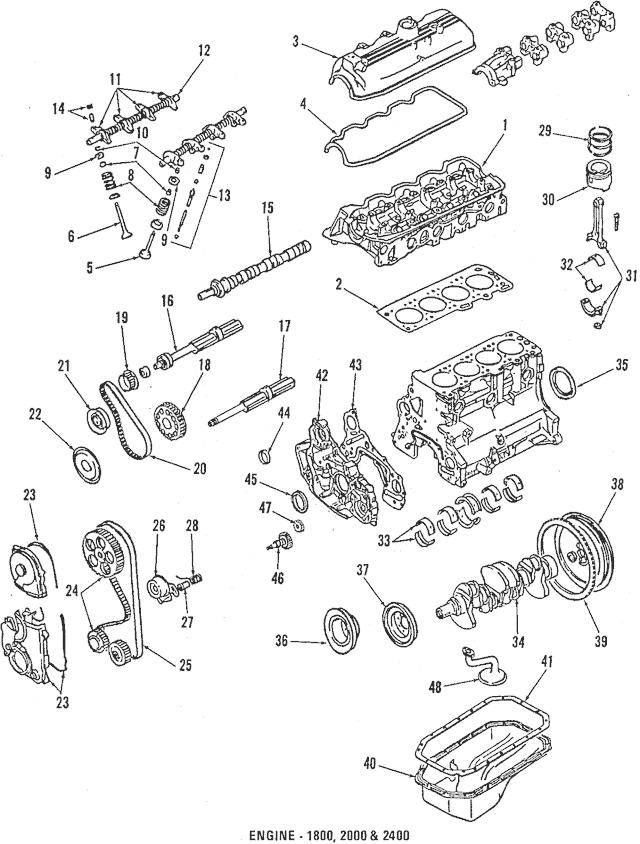 1985-2019 Mitsubishi Lower Oil Pan Gasket MD050317