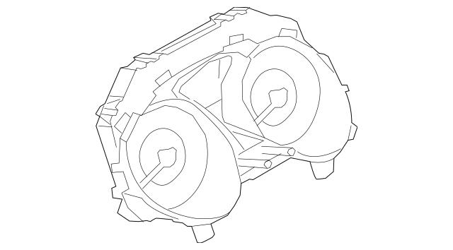 2016-2017 Nissan Juke Instrument Cluster 24820-4FT1C