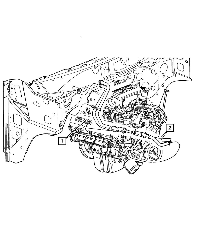 5.7 Hemi Heater Hose Diagram : heater, diagram, Genuine, Mopar, Heater, 68186699AA