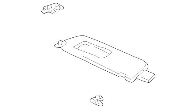 OEM Sun-visor for 2005 Toyota Tundra|74320-0C110-B3