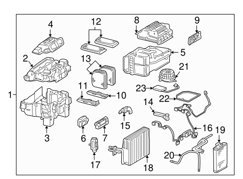 Evaporator & Heater Components for 2003 Mercedes-Benz CL