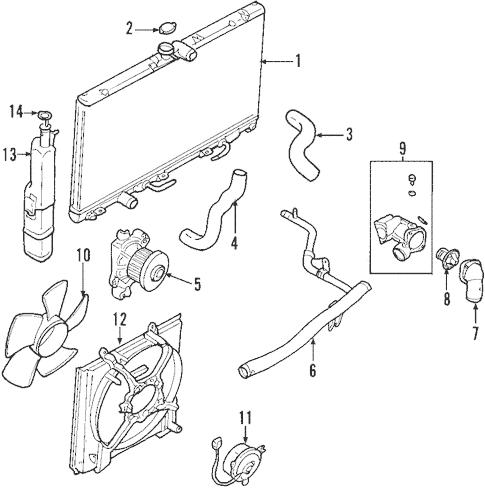 Radiator & Components for 2004 Mitsubishi Lancer Ralliart