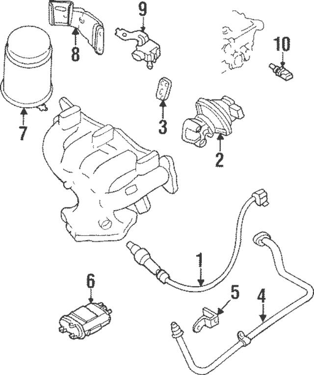 1995-1998 Mazda Protege Oxygen Sensor Z501-18-861A-9U