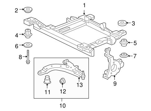 Engine Cradle for 2014 Chevrolet Impala Limited|22950171