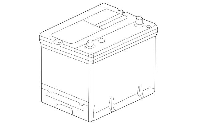 Honda Battery Assembly (70D23L-Mf) 31500-SL5-100M