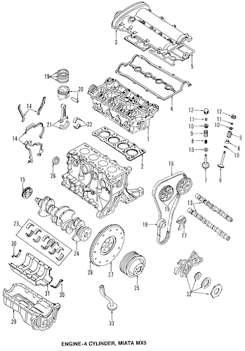 mazda miata 1 8 engine diagram