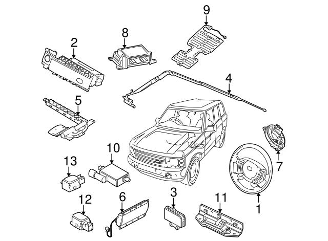 2003-2009 Land Rover Range Rover Passenger Discriminating
