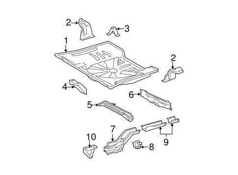 Genuine OEM Rear Floor & Rails Parts for 2005 Scion xB