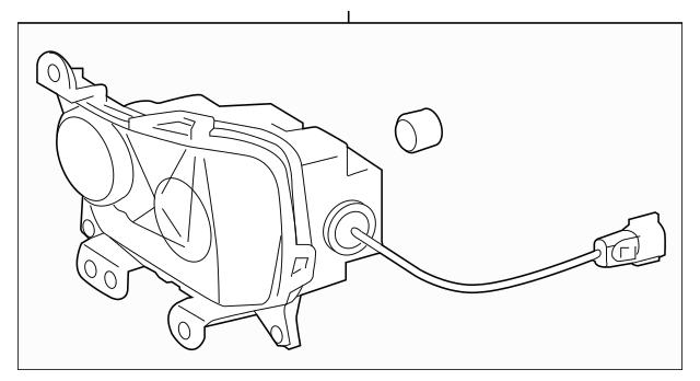 Genuine OEM Fog Lamp Assembly Part# 81220-24080 Fits 2015
