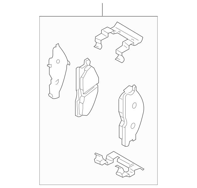 OEM NEW Front Brake Pads 06-19 Armada 11-12 Pathfinder 08