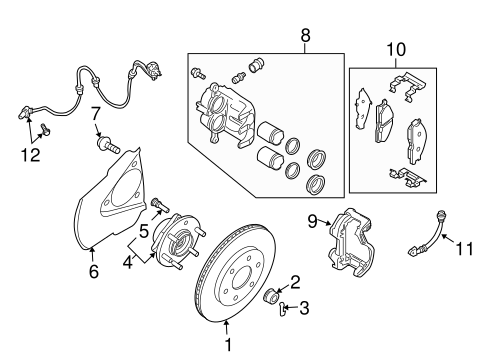 BRAKE COMPONENTS for 2004 Nissan Titan