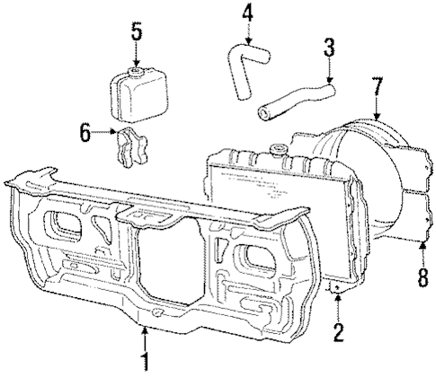 RADIATOR & COMPONENTS for 1986 Mitsubishi Mighty Max