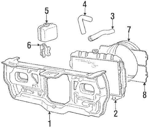 Radiator & Components for 1986 Mitsubishi Mighty Max