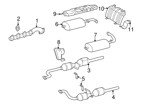 Exhaust Components for 2005 Mercedes-Benz G55 AMG