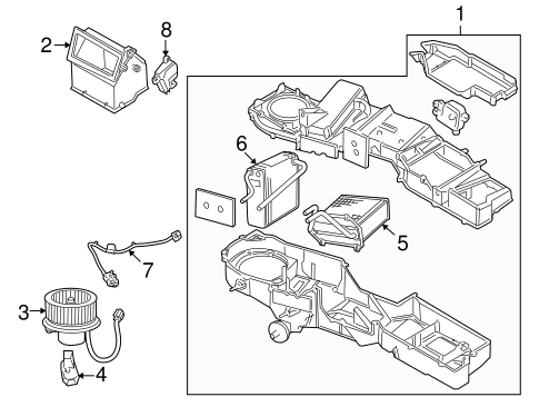 Evaporator & Heater Components for 2007 Dodge Ram 1500