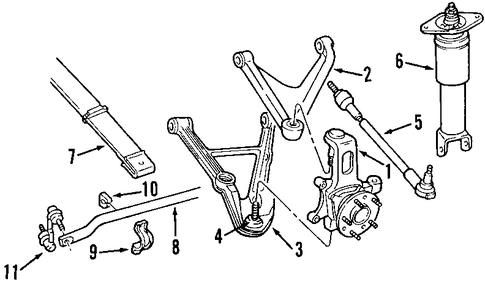 Rear Suspension Parts for 1999 Chevrolet Corvette