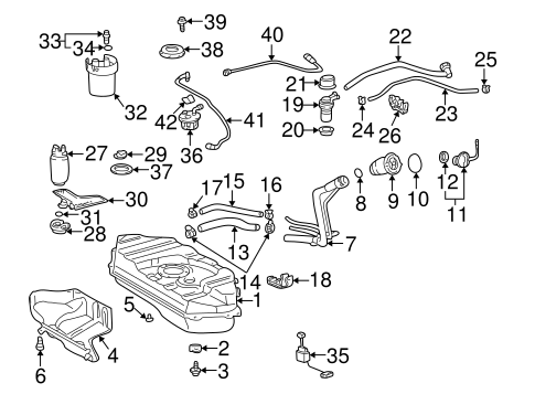 Fuel System Components for 2001 Toyota Echo