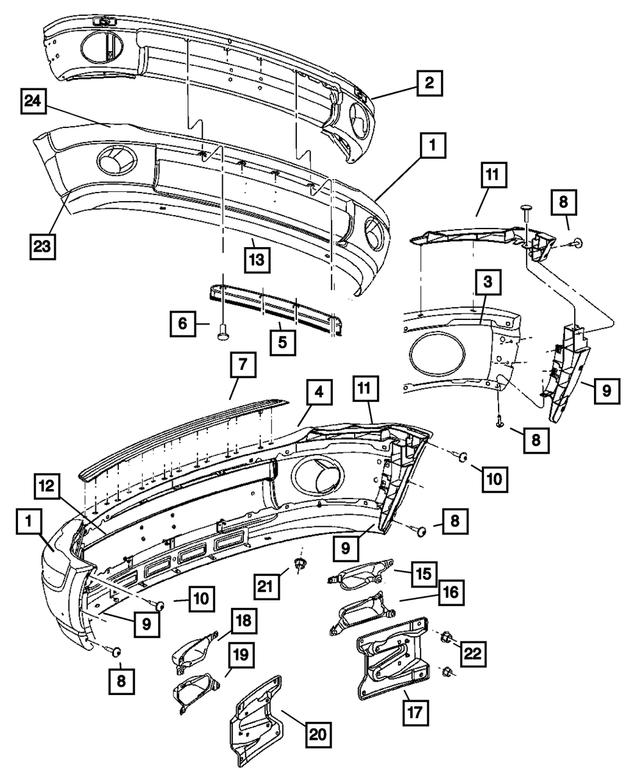 Mopar Bumper Bracket, Upper Left 2006-2008 Dodge Ram 1500