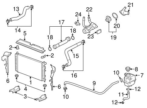 Radiator & Components for 2010 Chevrolet Malibu