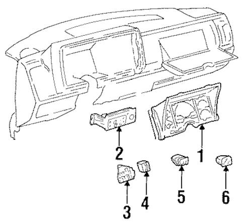 16193645 Gauge Cluster for 1994 Chevrolet Blazer : GM