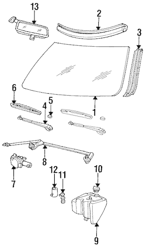 WIPER & WASHER COMPONENTS for 1994 Cadillac Fleetwood