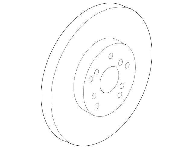 2009-2015 Honda PILOT 5-DOOR Disk, Front Brake (17