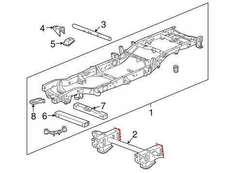 OEM 2009 Chevrolet Silverado 1500 Frame & Components Parts