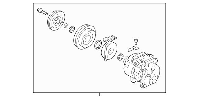 Buy this Genuine 2011-2015 Kia Sorento Compressor Assembly
