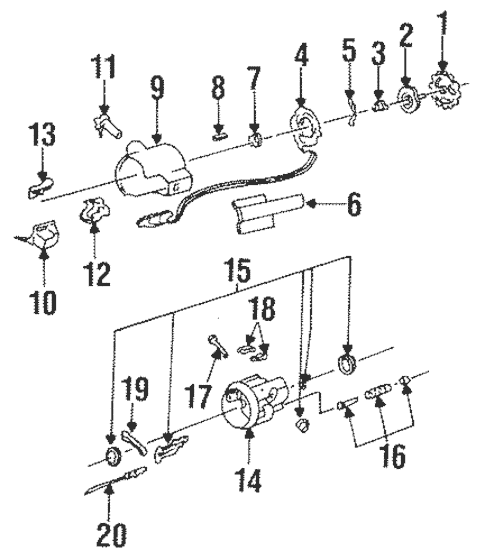 Steering Column Assembly for 1985 Buick Electra