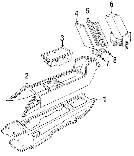 CENTER CONSOLE for 1989 Cadillac Allante (Base)