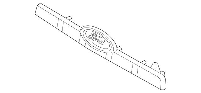 Genuine License Shield for 2007-2008 Ford Explorer Part