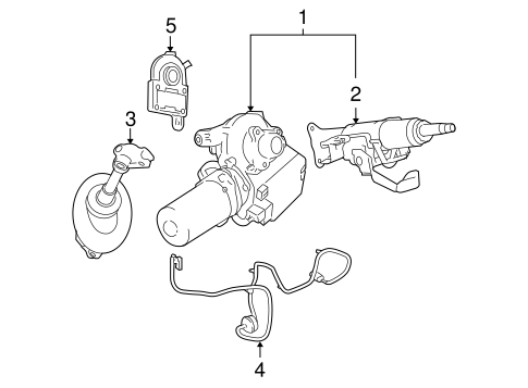 STEERING COLUMN ASSEMBLY for 2008 Chevrolet Cobalt (LT)