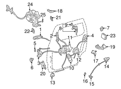 Toyota Sienna Door Parts Diagram