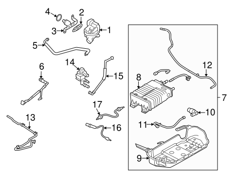Emission Components for 2010 Ford Mustang