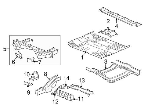 FLOOR & RAILS Parts for 2008 Saturn Vue