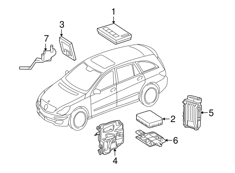 Electrical Components for 2010 Mercedes-Benz R 350